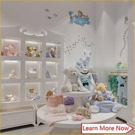 Китай High end fashion wooden white painting kids clothing stores baby girl clothes завод