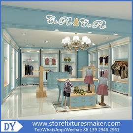 Китай Custom nice fashion  design wooden lacquer Childrens Clothing Stores display showcase furniture  with good price завод
