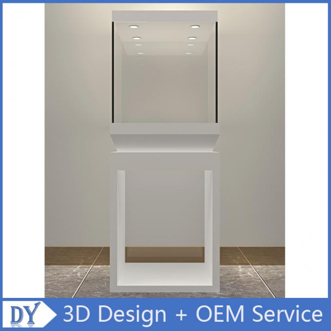 Manufacturer wholesale custom made white color glass display cases for museums